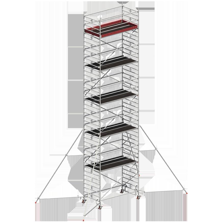 Andaime Móvel de Alumínio Uni-Ancho 10m (C/ Estabilizador de 5m)