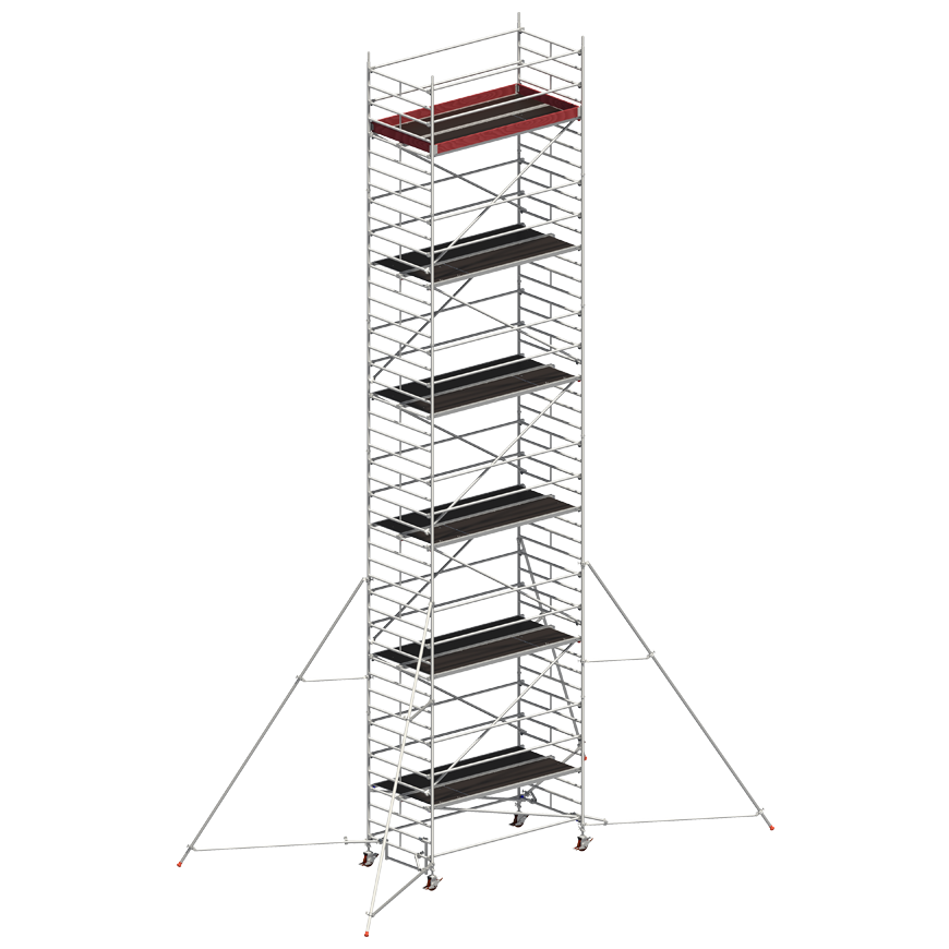 Andaime Móvel de Alumínio Uni-Ancho 11m (C/ Estabilizador de 5m)