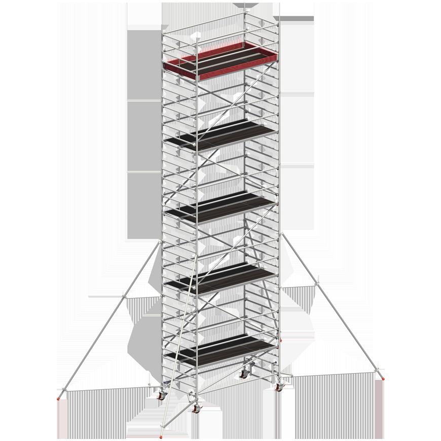 Andaime Móvel de Alumínio Uni-Ancho 9m (C/ Estabilizador de 5m)